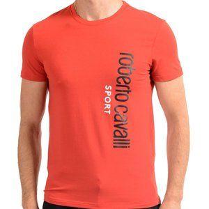 "Roberto Cavalli ""SPORT"" Men's Red Stretch T-Shirt"